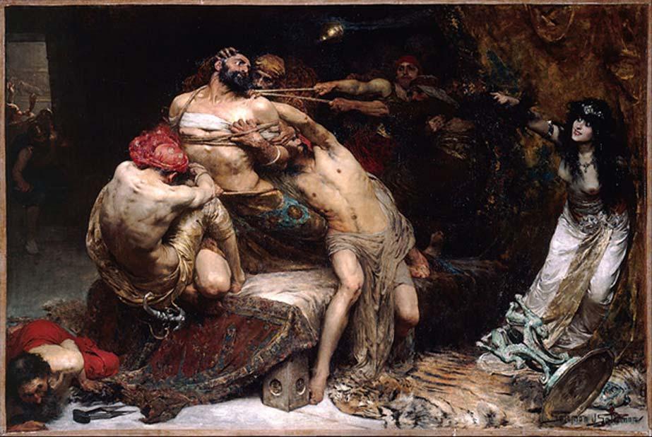¿Era el famoso danita Sansón en realidad griego? 'Sansón', óleo de Solomon J. Solomon, 1860 – 1927 (Public Domain)