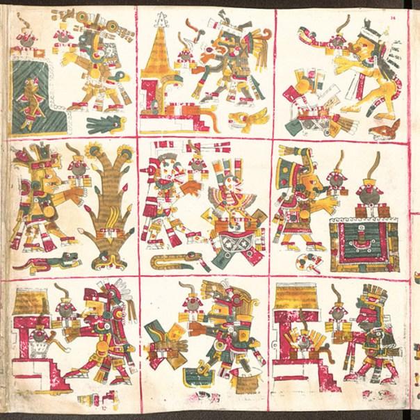 Señores de la Noche, página 14 del Códice Borgia. (Public Domain)