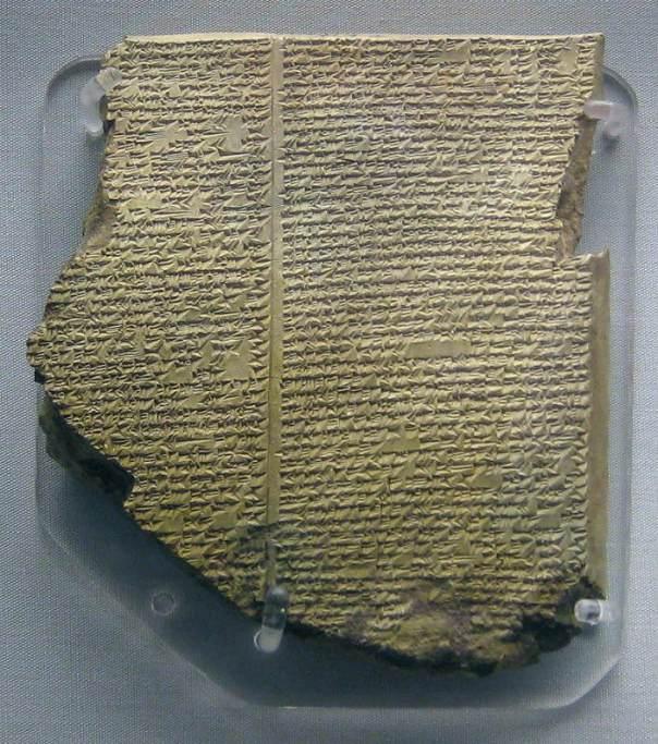 La tablilla sobre el diluvio de la epopeya de Gilgamesh, escrita en acadio (Museo Británico). (Public Domain)