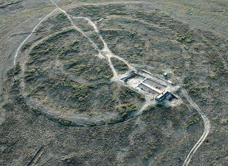 Vista aérea de parte del antiguo asentamiento de Arkaim. (Rafikova m/CC BY-SA 4.0)