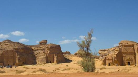 El yacimiento arqueológico de Madain Salih, Arabia Saudita (Wikimedia Commons)