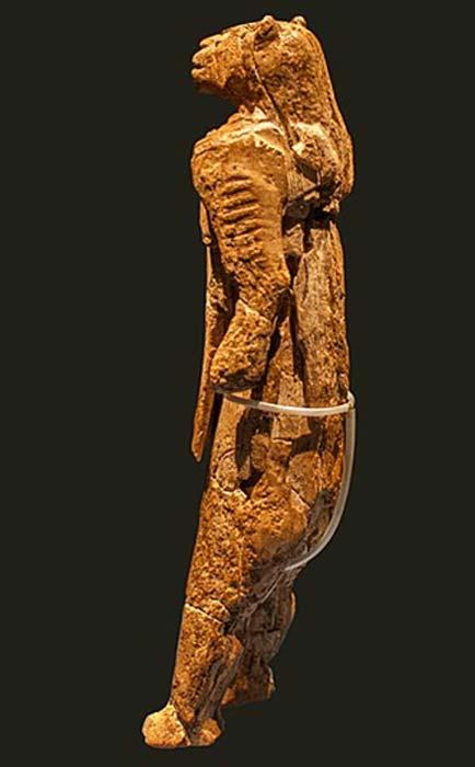 El hombre león de la cueva de Hohlenstadel. (Thilo Parg / CC BY-SA 3.0)