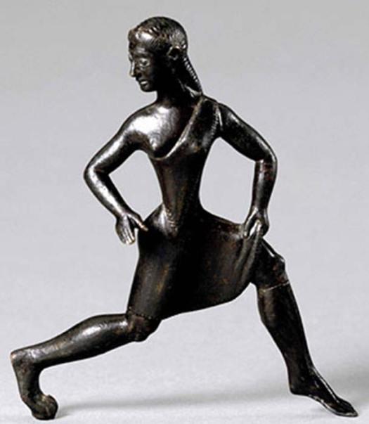 Estatuilla de bronce de la chica corriendo espartana. (Putinovac / Dominio Público)