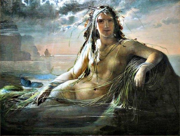 "Portada-""Sirena"" (1873), óleo de la pintora danesa Elisabeth Jerichau-Baumann (1818-1881)"