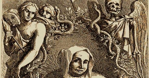 """Portada - Grabado en el que aparece un retrato de Catherine Deshayes, """"La Voisin"""". (Misterios en la Red/CC BY NC SA 3.0)"""
