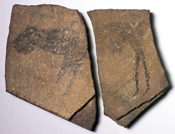 Piedras de la cueva del Apolo 11, Namibia, Fuente: Cortesía del Museo Estatal de Namibia.