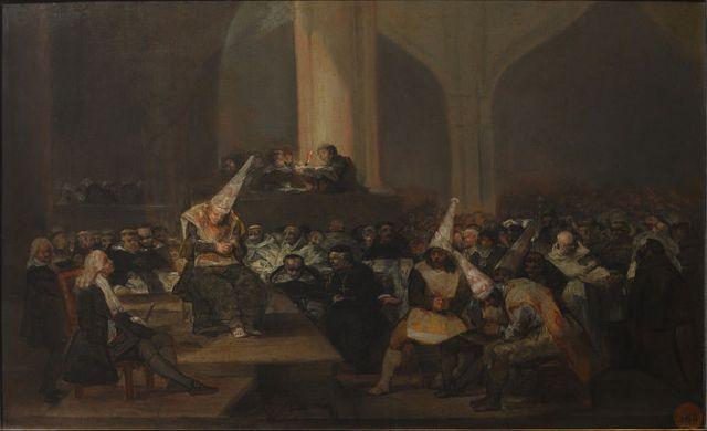 Escena de Inquisición, Francisco de Goya (1808/1812) (Wikimedia Commons)