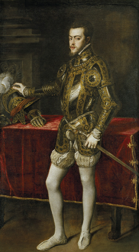 Retrato de un joven Felipe II obra de Tiziano, (c. 1554) (Public Domain)