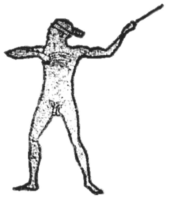 Ilustración del Hombre de Marree realizada por Lisa Thurston en el año 2005. (Wikimedia Commons)