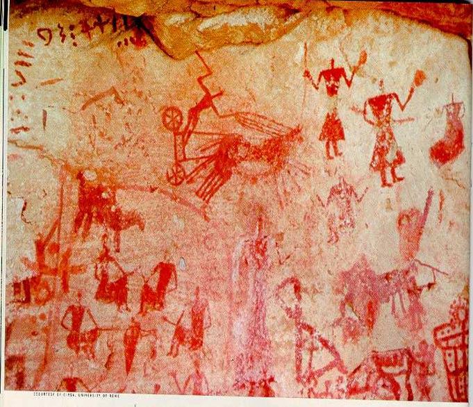 Arte rupestre con signos Mande