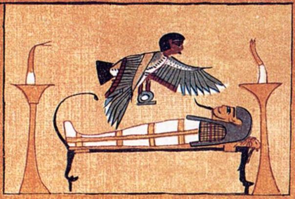 Ba, parte del alma humana, en un facsímil de una viñeta del Libro de los Muertos. (A. Loro / Dominio público)