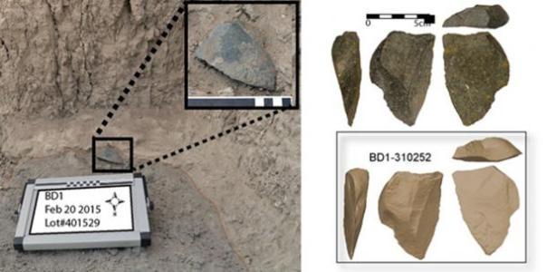 Las herramientas de piedra fueron encontradas cerca del fósil más antiguo atribuido al género Homo. (David R. Braun)