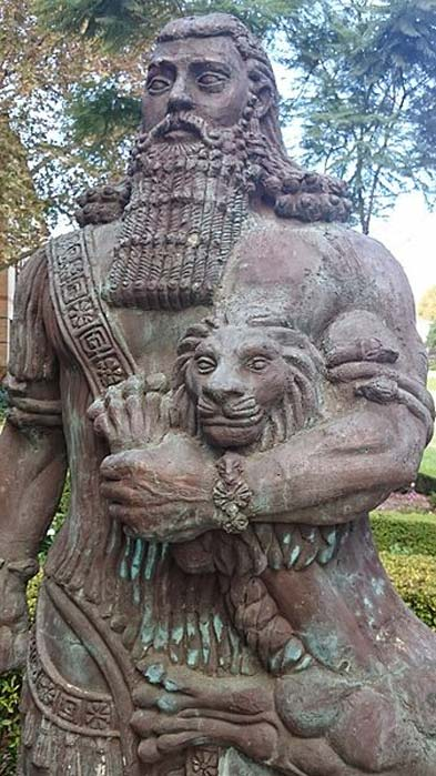 A statue of Gilgamesh at the University of Sydney.