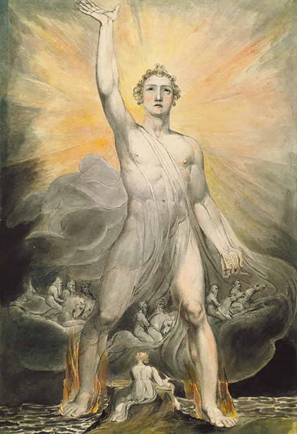 Molti Dei, o Dio e la sua corte celeste? 'Angel of the Revelation' di William Blake