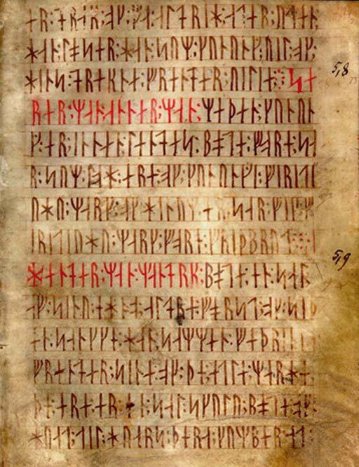 Codex Runicus, a codex written in Medieval runes