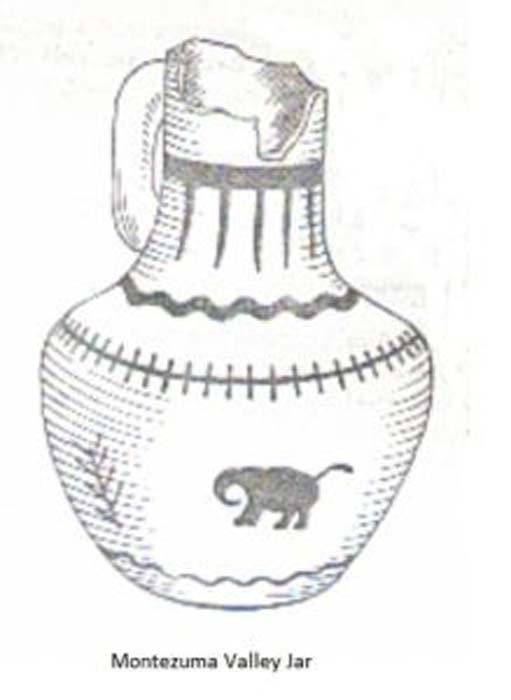 Drawing of elephant depicted on a Montezuma jar. Image Credit: Neil Harris. (Author provided)