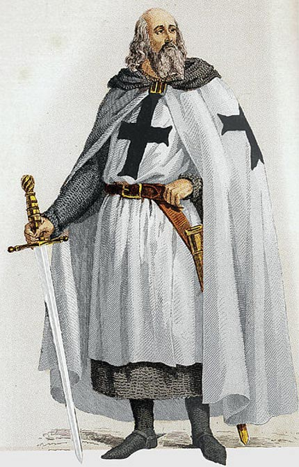 Jacques de Molay, the last Grand Master of the Knights Templar.