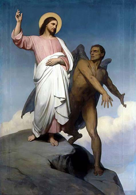 Lucifer depicted in The Temptation of Christ, by Ary Scheffer, 1854.
