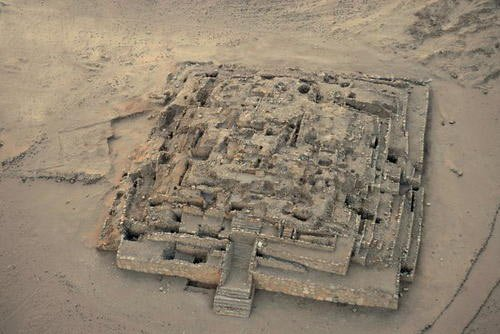 The 5,000-year-old Pyramid City of Caral Remains-of-the-Great-Pyramid-of-Caral