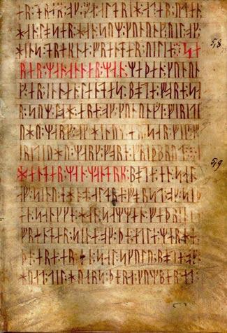 El alfabeto rúnico.