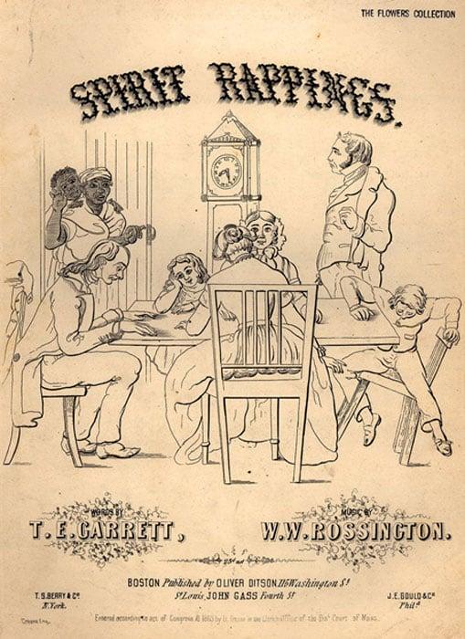 Une chanson de 1853 intitulée «Spirit Rappings» a cherché à capitaliser sur la popularité croissante du spiritisme au 19e siècle.  (Ras67 / domaine public)