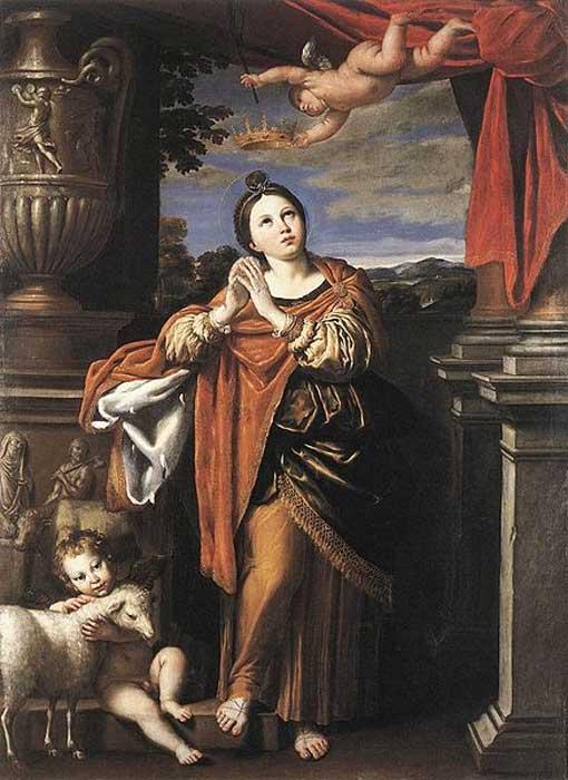 St Agnes by Domenichino