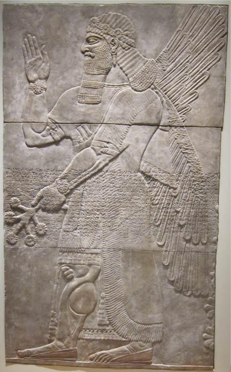 ancient Assyrian relief - Las armas y las tácticas cambian, pero el resto se remonta milenios