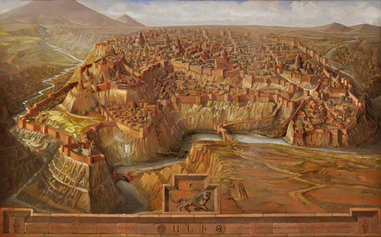 Ilustraciones de Ani, la ciudad capital del reino armenio medieval de la dinastía Bagratuni