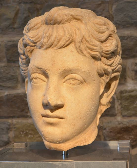 A bust of Commodus as a youth. 180-192 AD.
