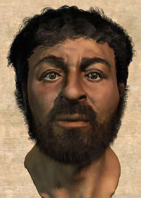 Richard Neave ha recreado el rostro de Jesús (en la foto), utilizando técnicas forenses.