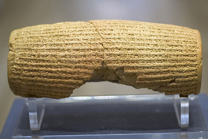 The Cyrus Cylinder and the ancient proclamation of human rights