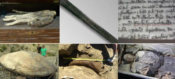 Diez hallazgos históricos impares y misteriosas del 2015