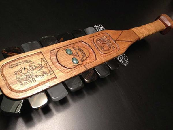 Macuahuitl Aztec Wooden Paddles Are Obsidian Swords