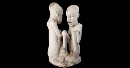 La escultura de hambre de Saqqara.