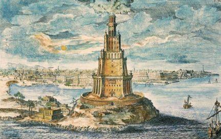 The Pharos of Alexandria by Fischer von Erlach