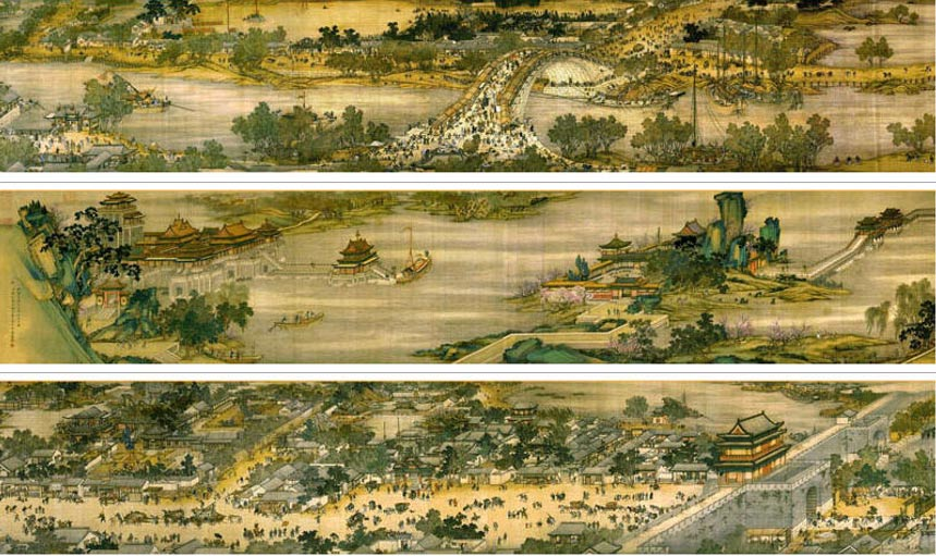 Along the River during the Qingming Festival painting