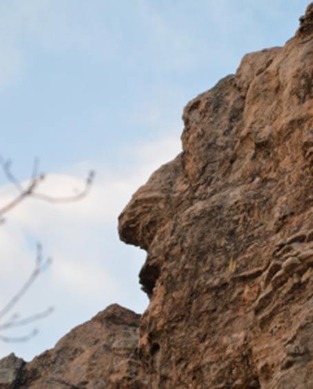 Una caratteristica, ha detto di essere di un profilo umano, scolpito nella roccia santuario degli Eagles.
