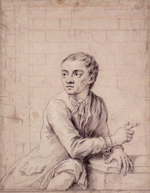 Ескіз злодія 18 століття Джека Шеппарда незадовго до страти в 1724 році. (Public Domain)