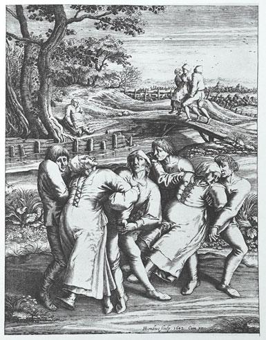Medieval Dancing Mania Engraving