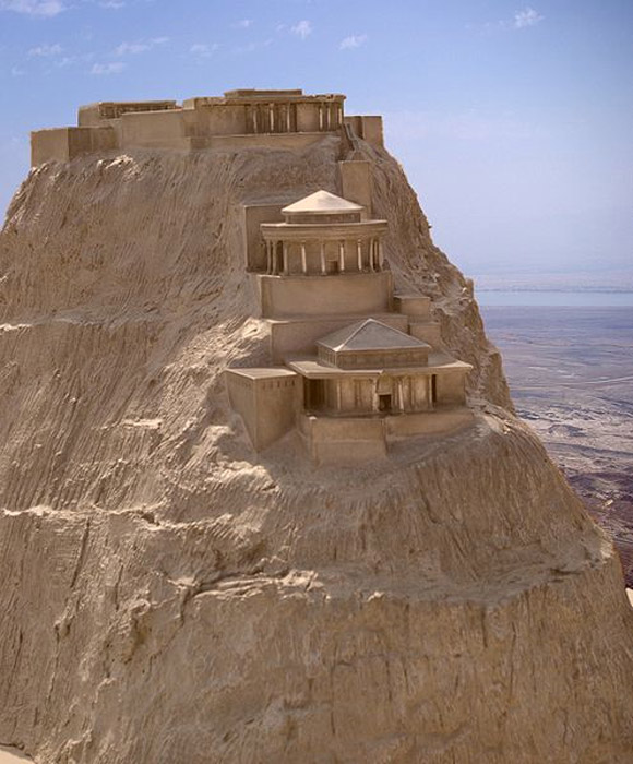 A model of the northern palace as Masada