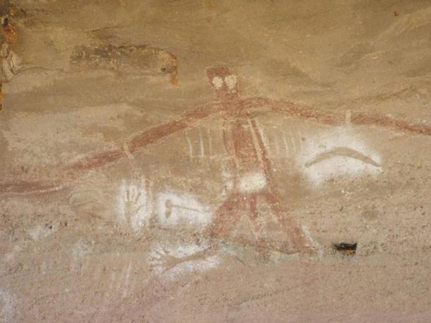 Arte rupestre aborigena raffigurante il dio creatore