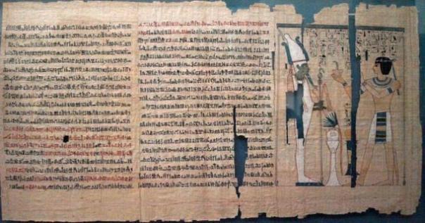 4000 años de edad, egipcio antiguo manuscrito que mide más de 8 pies