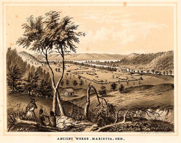 Tumuli antichi e monumenti della Valle del Mississippi.  Originariamente pubblicato in William Cullen Bryant e Sydney Howard Gay