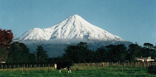 Angry Mount Taranaki, New Zealand.