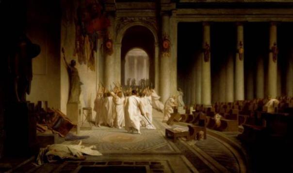 Asesinato de Julio César, Jean-Léon Gérôme.