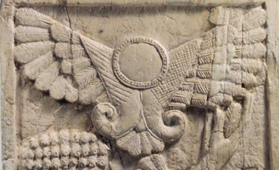 The Assyrian winged disk. One of the many similar glyphs that represented deities that appeared throughout the world after the comet's appearance in 1486 BC.
