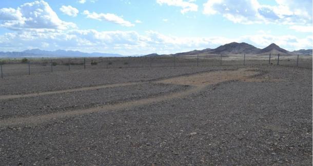 Los Intaglios Blythe están situados en el árido paisaje del desierto de Colorado
