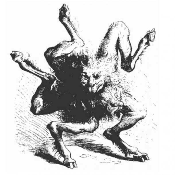 """Буер, десятий дух, який викладає """"Моральну та природничу філософію"""" (з видання Mathers 1995 р.).  (Публічний домен)"""