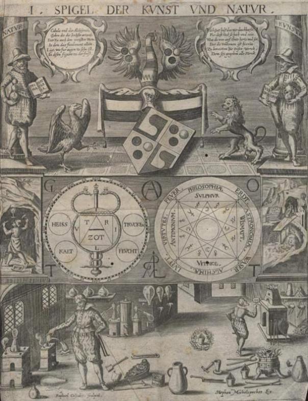 Ilustración de la Cábala Speculum, 1654.