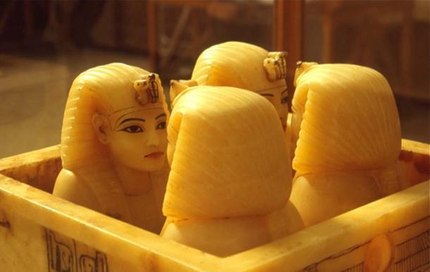vasi canopi dalla tomba di Tutankhamon.